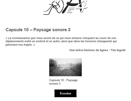 Capsule 10 : Paysage sonore 3