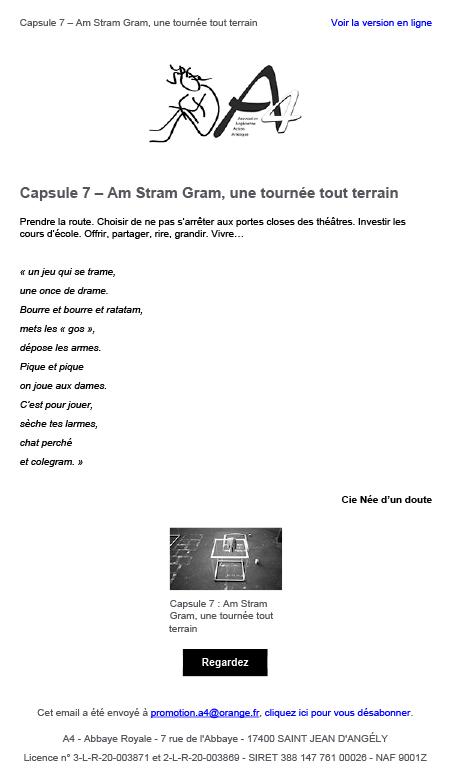 Capsule 7 : Am Stram Gram, une tournée tout terrain
