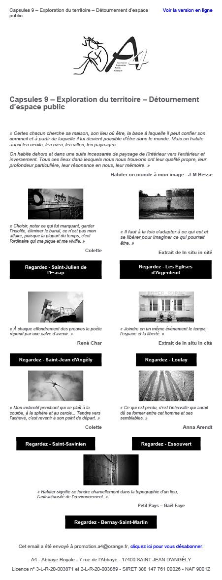 Capsules 9 : Exploration du territoire – Détournement d'espace public